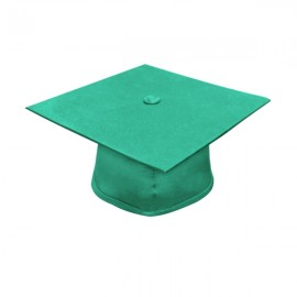 Matte Emerald Green High School Cap