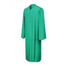 Matte Emerald Green High School Gown