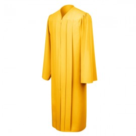 Matte Gold High School Gown