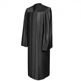 Shiny Black High School Gown