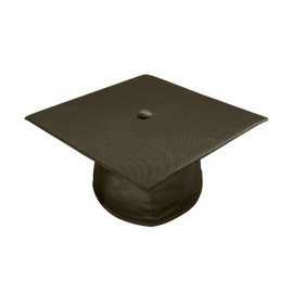 Shiny Brown Middle School Cap