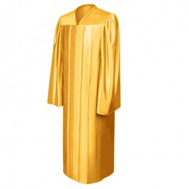 Shiny Antique Gold High School Gown