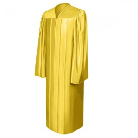Shiny Gold Bachelor Gown