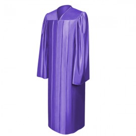 Shiny Purple High School Gown