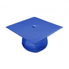 Shiny Royal Blue High School Cap