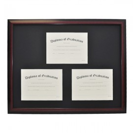 High School Triple Document Diploma Frame