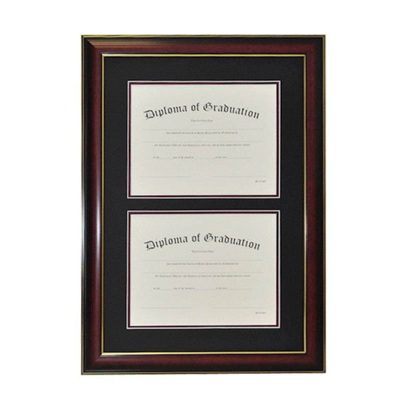 university double document diploma frame gradshop With dual document frame