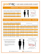 Cap & Gown Size Chart