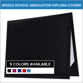 Middle School Plain Blank Diploma Covers | Gradshop