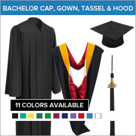 Bachelor Caps, Gowns, Tassels & Hoods