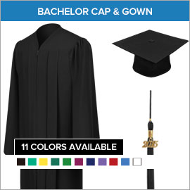 Bachelor Caps, Gowns & Tassels