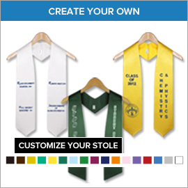 College Custom Graduation Stoles | Gradshop