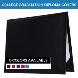 College Plain Blank Diploma Covers | Gradshop