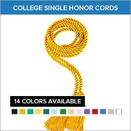 College Single and One Color Honor Cords | Gradshop