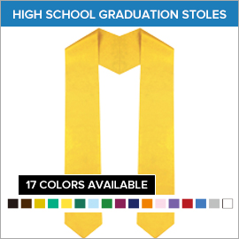 High School Plain Stoles | Gradshop