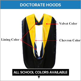 Academic Regalia Doctoral Degree PhD Hoods