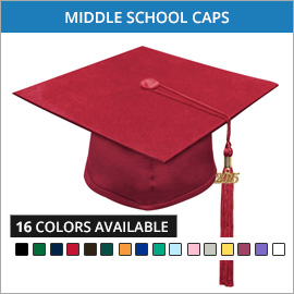 Middle School Caps & Tassels