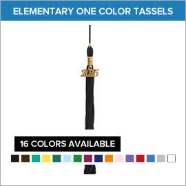 Elementary One Color Tassels | Gradshop