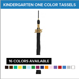 Kindergarten One Color Tassels | Gradshop