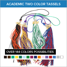 Academic Two Color Tassels | Gradshop