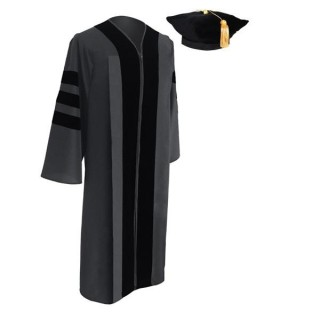Classic Doctoral Graduation Tam & Gown - Academic Regalia