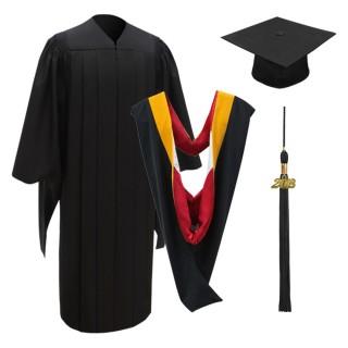 Deluxe Master Academic Cap, Gown, Tassel & Hood