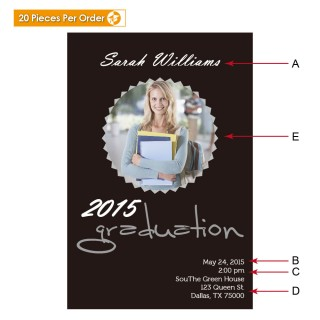 Picture Seal College Graduation Announcement