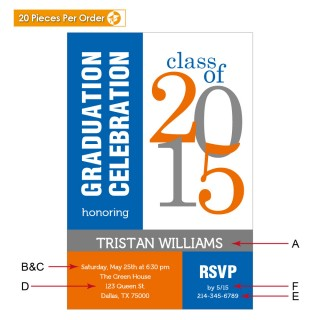 Modern Celebration College Graduation Announcement