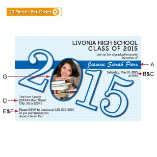 Picture Dot High School Graduation Announcement