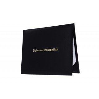 Black Imprinted College Diploma Cover