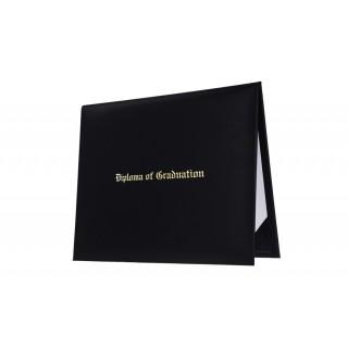 Black Imprinted College Diploma Cover