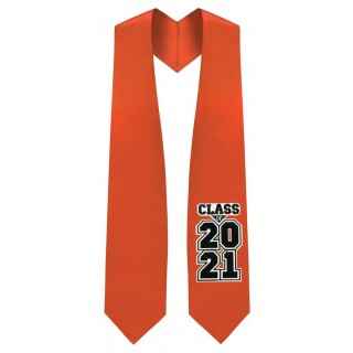 Class of 2021 Orange Graduation Stole