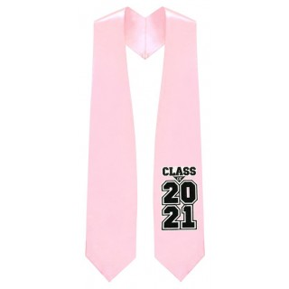 Class of 2021 Pink Graduation Stole