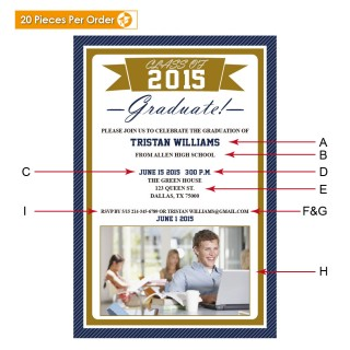 Picture Ribbon College Graduation Announcement