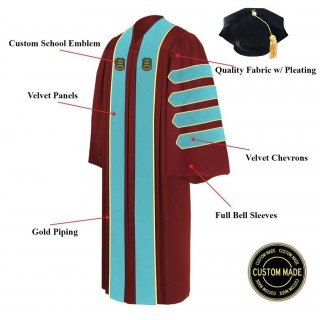Custom Doctoral Graduation Gown And Tam Package Doctorate Regalia