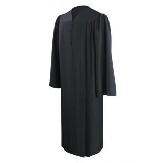 Eco-Friendly Black High School Gown