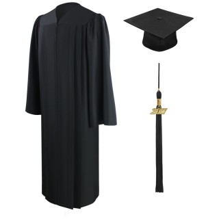 Eco-Friendly Black Elementary Cap, Gown & Tassel