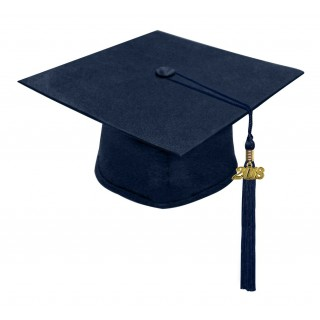 Matte Navy Blue Middle School Cap & Tassel