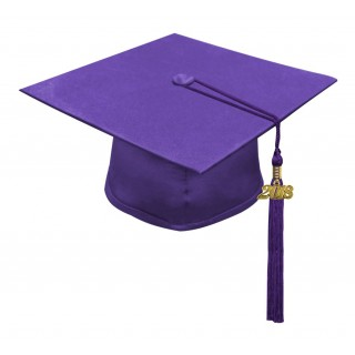 Matte Purple Middle School Cap & Tassel