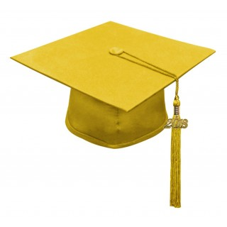 Matte Gold High School Cap & Tassel