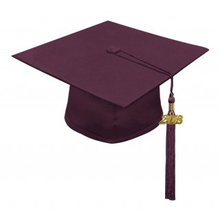 Matte Maroon High School Cap & Tassel