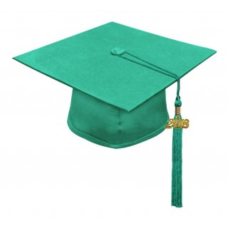 Matte Emerald Green Middle School Cap & Tassel