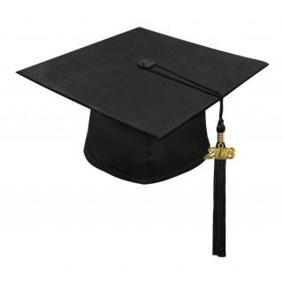 Matte Black High School Cap & Tassel