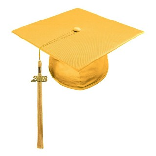 Shiny Antique Gold Middle School Cap & Tassel