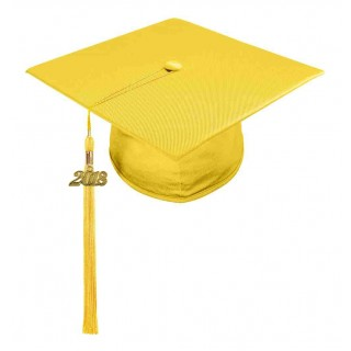 Shiny Gold Middle School Cap & Tassel