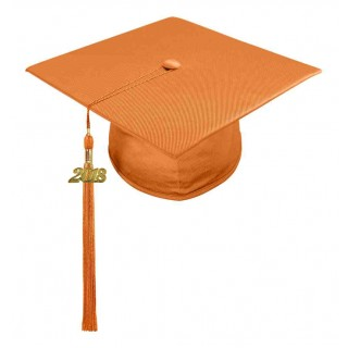 Shiny Orange Middle School Cap & Tassel