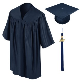 Navy Blue Kindergarten Cap, Gown & Tassel