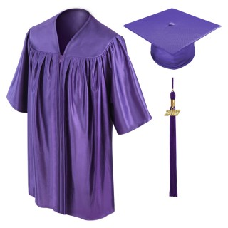 Purple Kindergarten Cap, Gown & Tassel