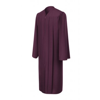 Matte Maroon Middle School Gown