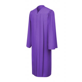 Matte Purple Middle School Gown
